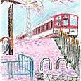 駅への桜坂