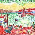 ドラン「コリウール港」の模写